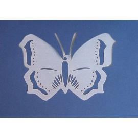 Carte postale papillon découpe laser