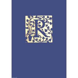 Carte postale lettre R découpe laser