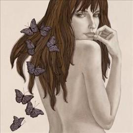 Carte postale Gouskova papillons