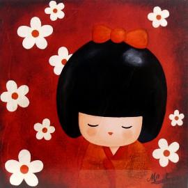 Carte postale Lakraa natsumi harmonie rouge