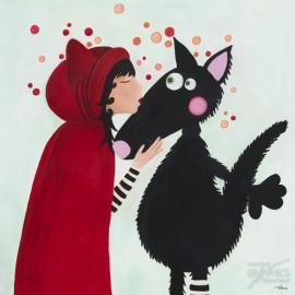 Carte postale Bellon le baiser