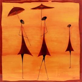 Carte postale Ona fourmis à l'ombrelle