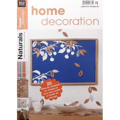 Livre home deco 56 Naturel création avec motifs en feuille de placage