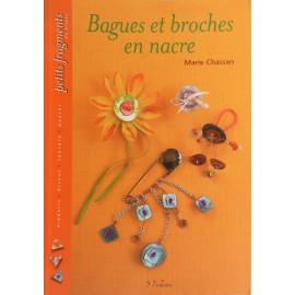 Livre créations bijoux bagues et broches en nacre