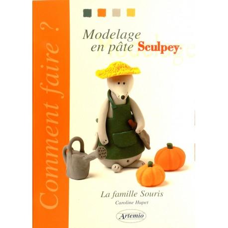 Livre loisirs créatifs modelage en pâte la famille souris
