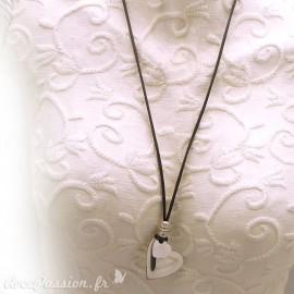 collier-fantaisie-adora-lien-gris-reglable-coeur-argente-s20-bijou-createur-llzadora-ref-002