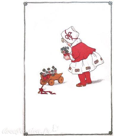 Carte postale Ludom la petite aux trefles