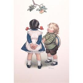 Carte postale Ludom le petit couple sous un arbre
