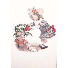 Carte postale Ludom la petite fille et son arrosoir