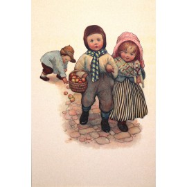 Carte postale Ludom les pommes