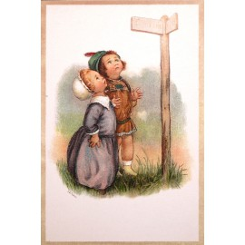 Carte postale Ludom le petit couple en promenade