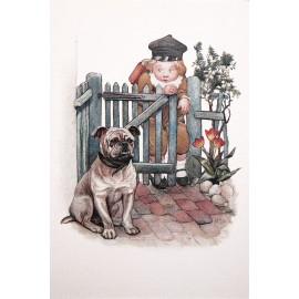 Carte postale Ludom le petit ecolier