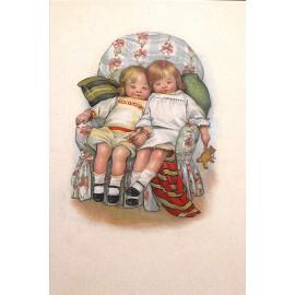 Carte postale Ludom le petit couple endormi