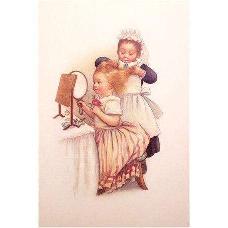 Carte postale Ludom la coiffeuse