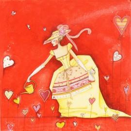 Carte postale Clélia Grillon graines de bonheur