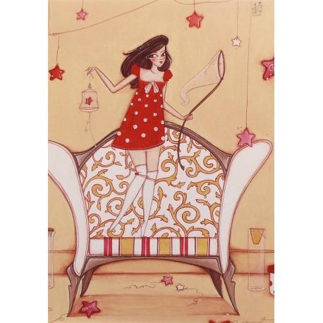 Carte postale Clélia Grillon la bonne etoile