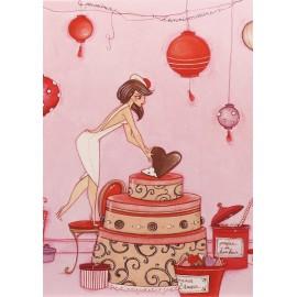 Carte postale Clélia Grillon poussieres d'anniversaire