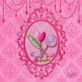 Carte postale Catherine Martini bonbons