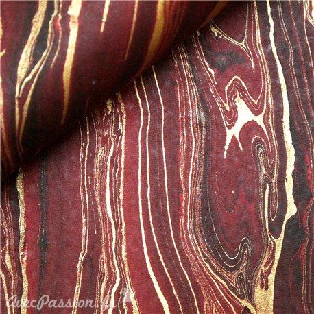 papier-marbre-fleuve-or-rouge-fm-110f-papier-cartonnage-meuble-en-carton