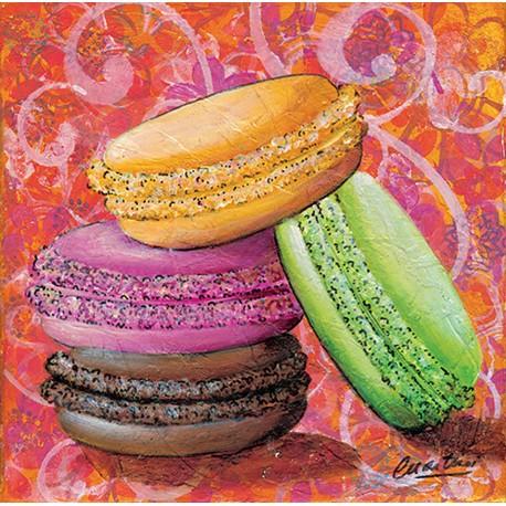 Carte d'art Catherine Martini macarrons