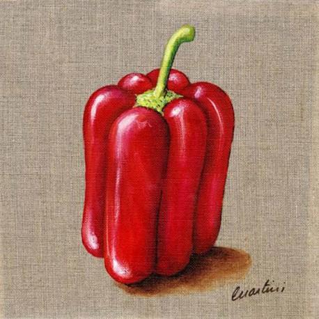 Carte d'art Catherine Martini poivron
