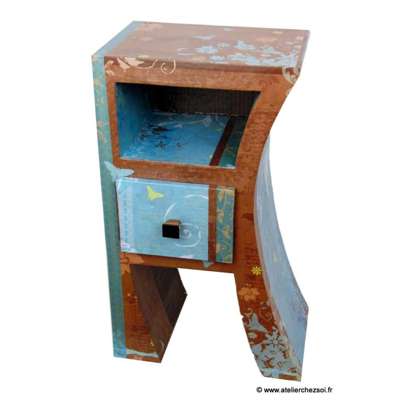 meubles en carton tuto livre chevet hasiane 1 achat vente. Black Bedroom Furniture Sets. Home Design Ideas
