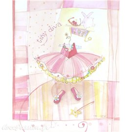 Carte d'art tiny diva 24x30