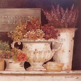 Carte d'art fleurs marché aux fleurs kathryn white