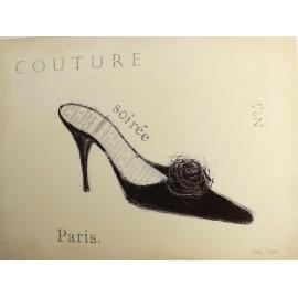 Carte d'art chaussure couture détail