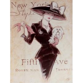 Carte d'art femme shabby chic Chad Barrett new york socialite