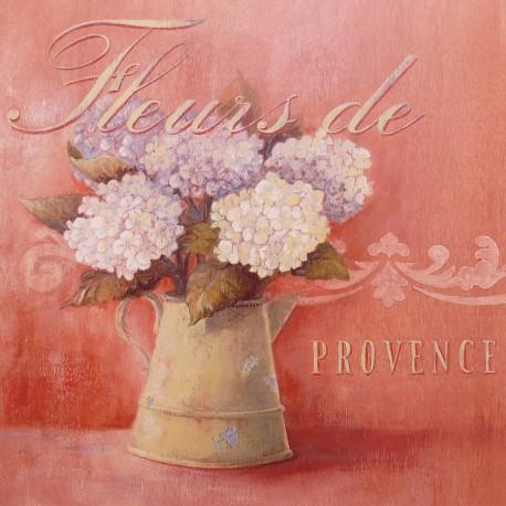 Carte d'art maison shabby chic fleurs provence