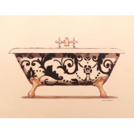 Carte d'art baignoire floral 2
