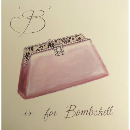 Carte d'art bombshell Shabby Chic Emily Adams