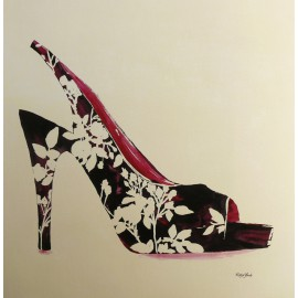 Carte d'art chaussure style silhouette Katie York