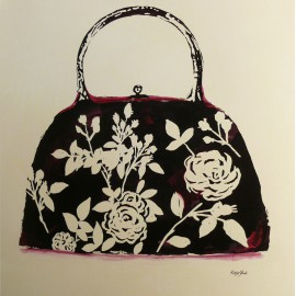 Carte d'art sac style silhouette Katie York