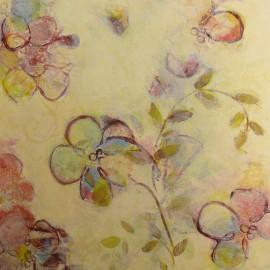 Carte d'art fleurs floral rythm Claire Lerner