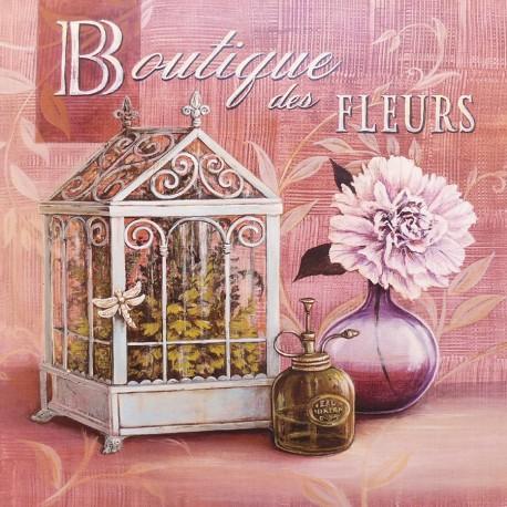 Carte d'art maison shabby chic boutique des fleurs Angela Staehling
