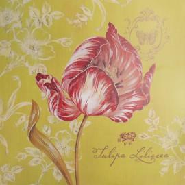 Carte d'art fleurs tulipe toile