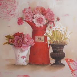 Carte d'art maison shabby chic fleurs favourite flower Kathryn White