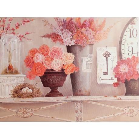 Carte d'art maison shabby chic fleurs blossom time Kathryn White