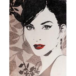 Carte d'art princesse Pop Melissa Pluch