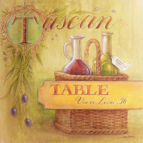 Carte d'art tuscan table Angela Staehling