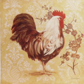 Carte d'art poule estate plumage Laurel Lehman