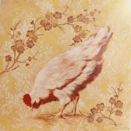 Carte d'art poule estate hen Laurel Lehman