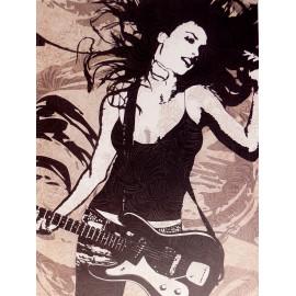 Carte d'art femme musique rock 1 Melissa Pluch