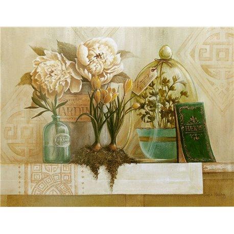 Carte d'art fleurs french herbs