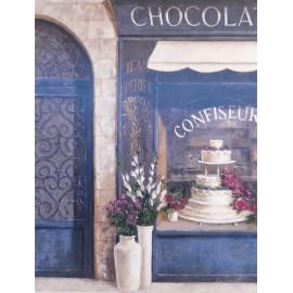 Carte d'art chocolatier