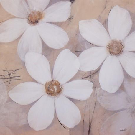 Carte d'art fleurs modern pale blossoms