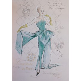 Carte d'art femme couture de paris