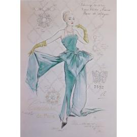 Carte d'art femme couture de paris